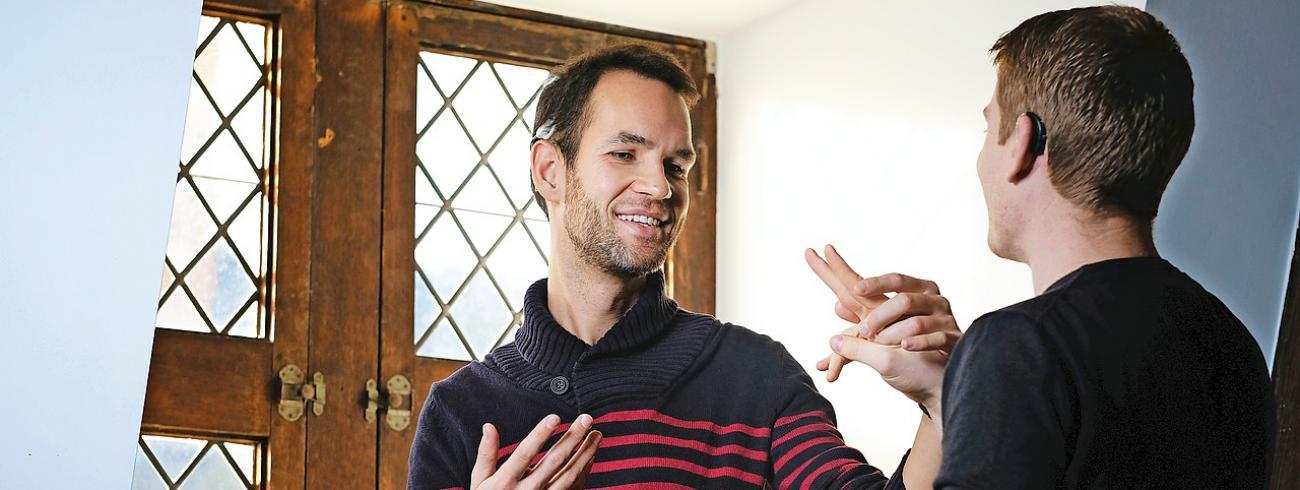"""Bert Van de Sompele: """"Mijn doel in mijn leven is om de situatie van doofblinden meer bekend te maken."""" © © Bart Dewaele"""