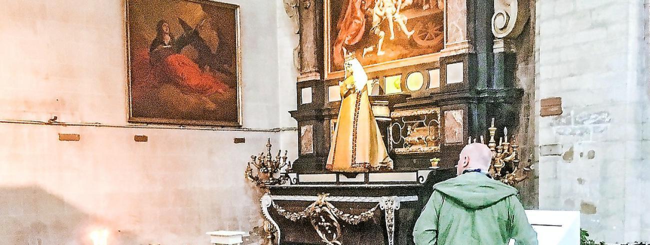 Theodoor van Loon schilderde Sint-Ursula voor de Brusselse Begijnhofkerk.  © © Peter Wouters