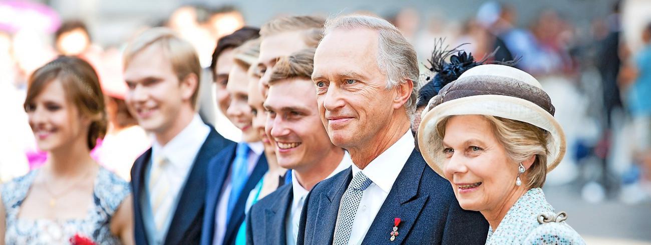 Aartshertog Carl-Christiaan, echtgenoot van prinses Marie Astrid, adviseerde de bank.  © Belga Image