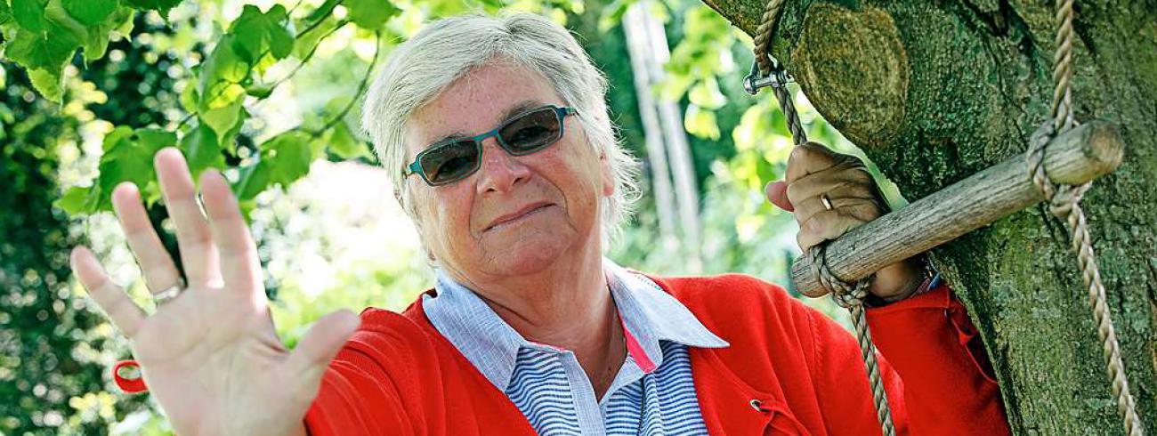 Zuster Anne-Marie Dierick is dankbaar voor de tijd om te vertragen en, hopelijk, te resetten. © Kristof Ghyselinck