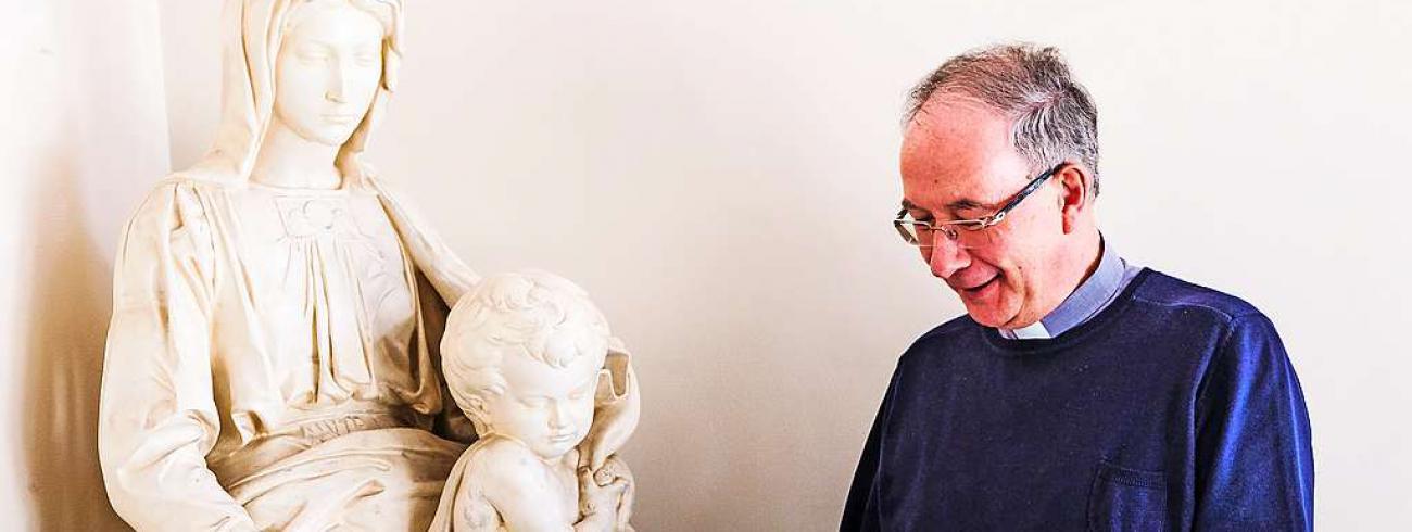 In Koen Vanhouttes leven was Maria steeds aanwezig, maar nooit te nadrukkelijk.  © Laurens Vangeel