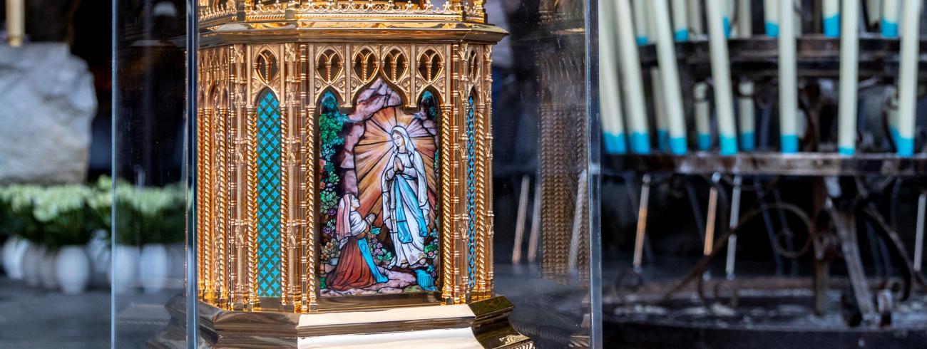 Reliekschrijn Bernadette de Lourdes © Sanctuaire Notre-Dame de Lourdes / VINCENT Pierre
