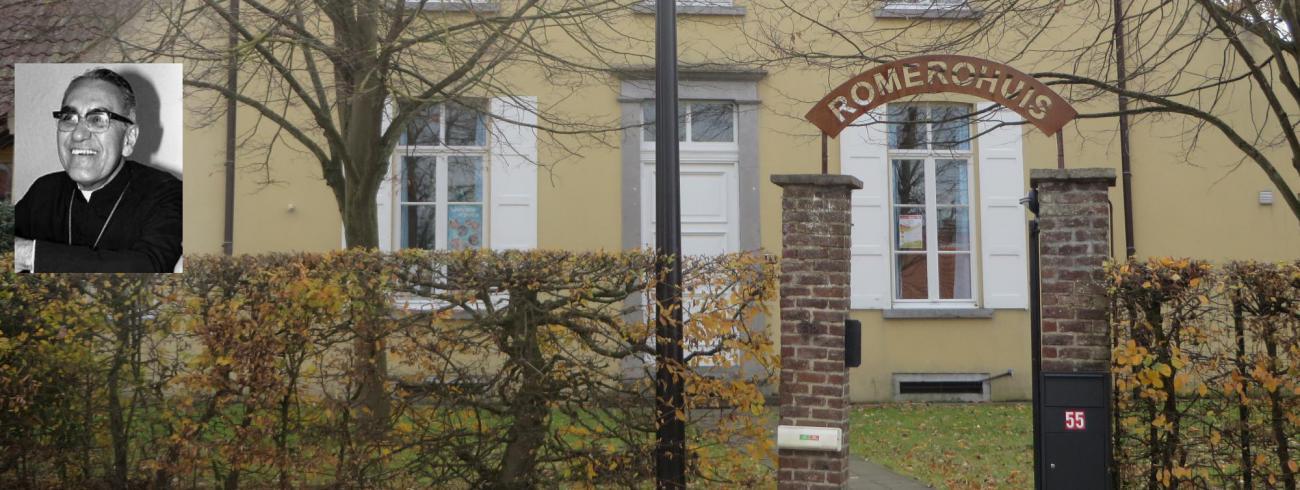 Romerohuis met afbeelding Mgr. Romero