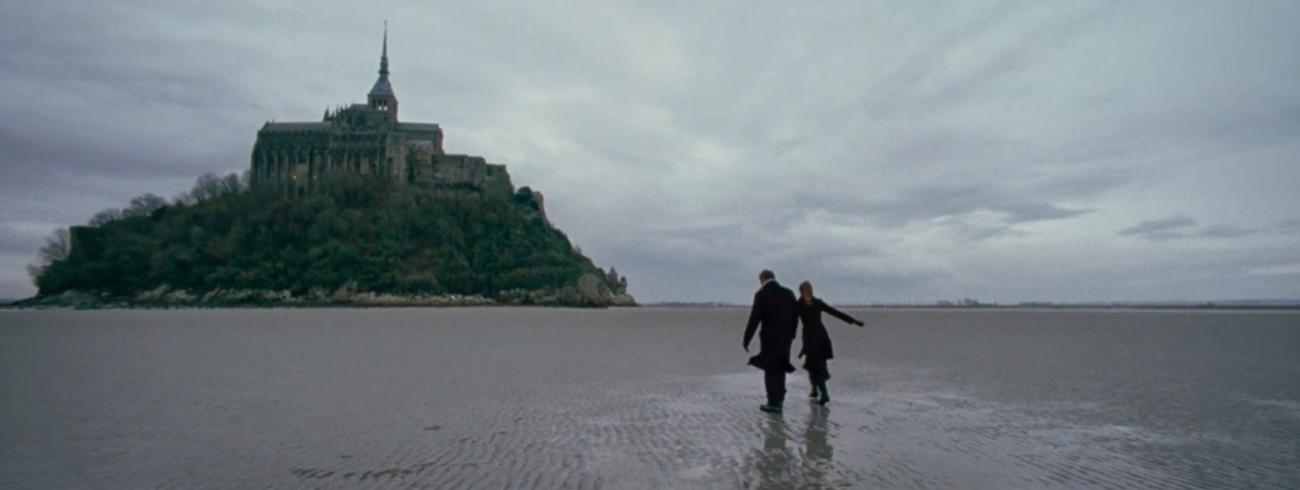 Scène uit 'To the wonder' aan de Mont Saint-Michel © rr