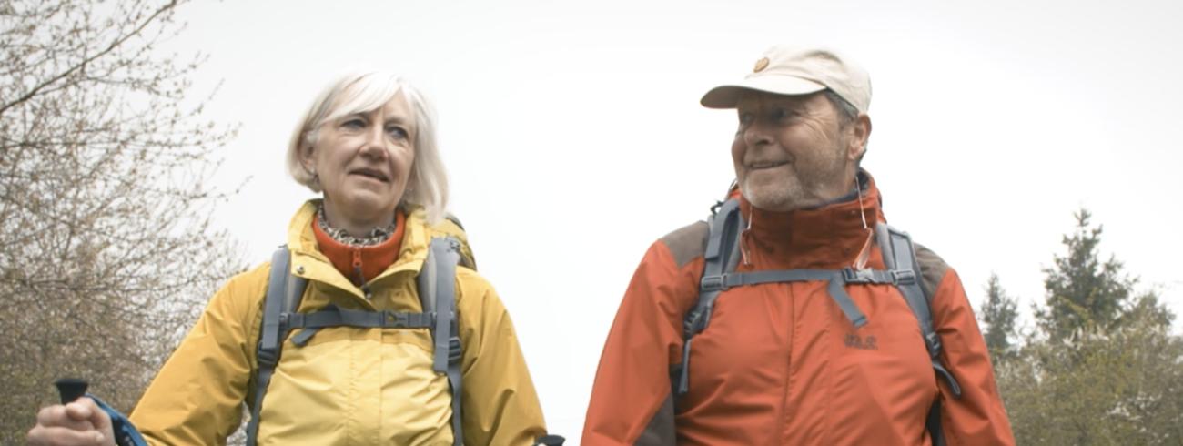 Moniek Delvou en haar partner, onderweg. © CC Alain Roullier