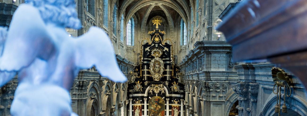 Interieur van de Sint-Servaasbasiliek in de abdij van Grimbergen © Abdij Grimbergen