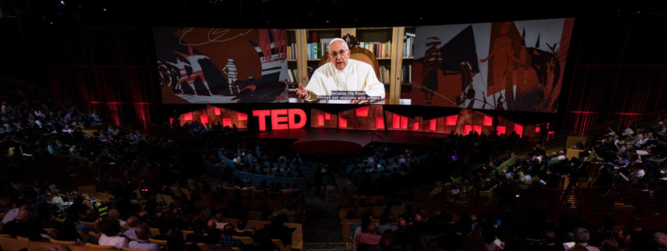 De toespraak werd voor het eerst getoond op een congres in Vancouver. © TED