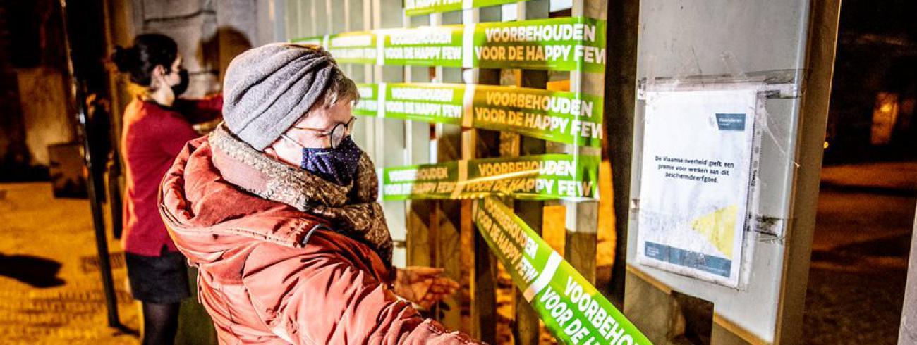 De actie voor meer gelijkheid in Leuven © Thomas De Boever/Broederlijk Delen