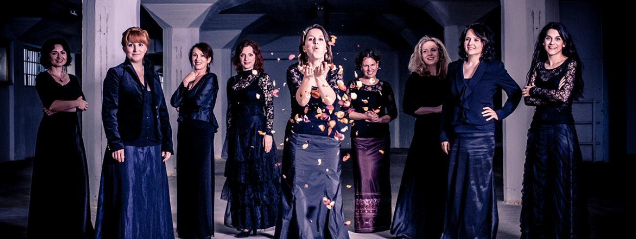Het ensemble Tiburtina brengt Van Bingens 'Ordo Virtutum'. © Klarafestival / Vojtěch Havlík