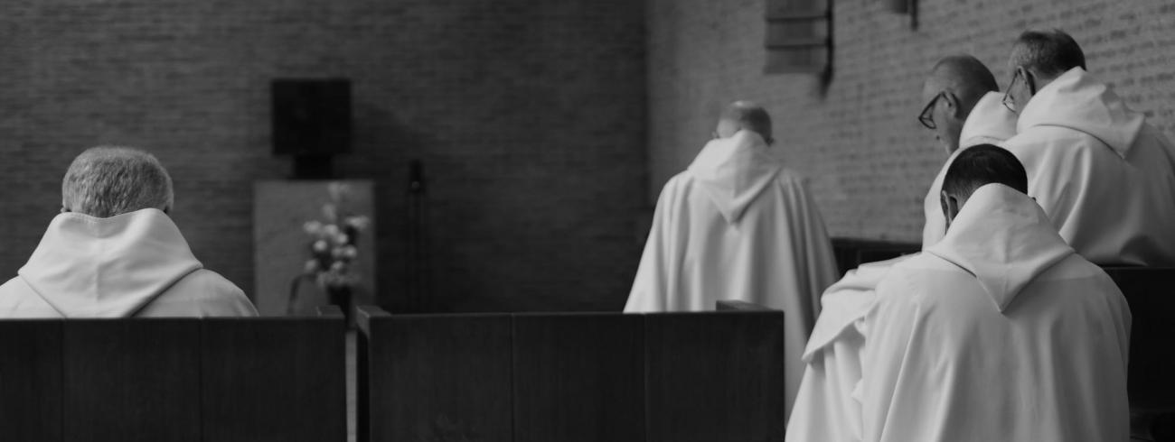Monniken in gebed  © Sint-Sixtusabdij Westvleteren
