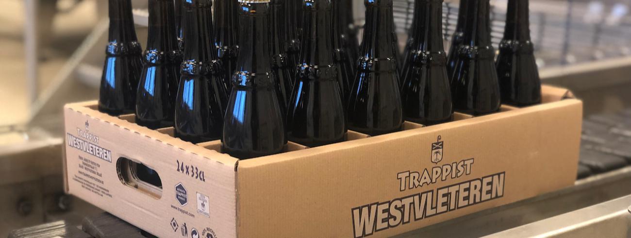 24 flesjes Westvleterense godendrank in een milieuvriendelijk kartonnen krat © Sint-Sixtusabdij Westvleteren