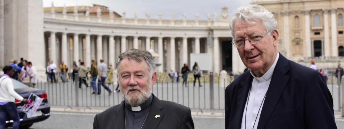 Bisschoppen Jean Kockerols en Luc Van Looy over synode © Koen Vlaeminck