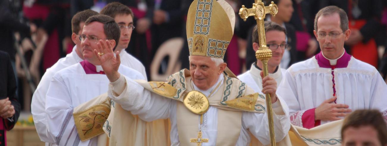 De emeritus paus Benedictus VI © Philippe Keulemans