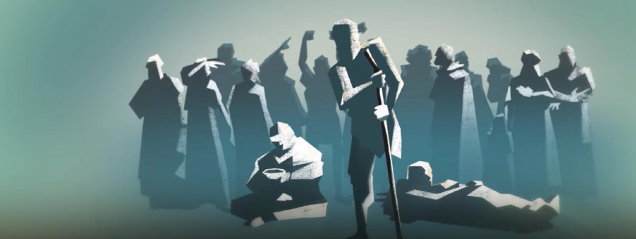 Schermafbeelding eerste deel Evangelie volgens Lucas (The Bible Project). © The Bible Project