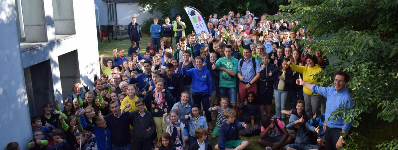 meer dan 200 jongeren gingen in op de uitnodiging van bisschop Lode Aerts © Inge Cordemans
