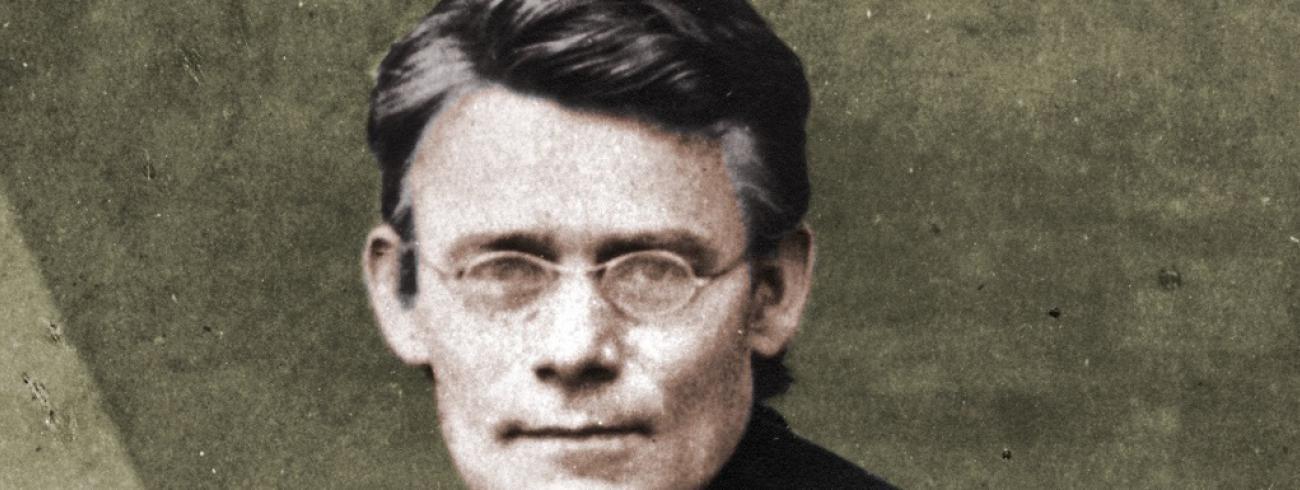 Pater Frans Jordan als jonge stichter