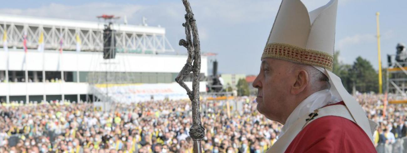 Paus Franciscus in Presov © Vatican Media