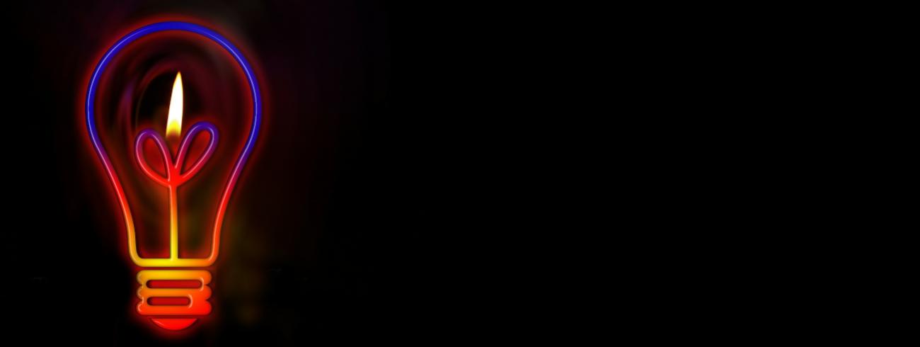 lamp met kaarsvlam © Gerald Altmann - Pixabay