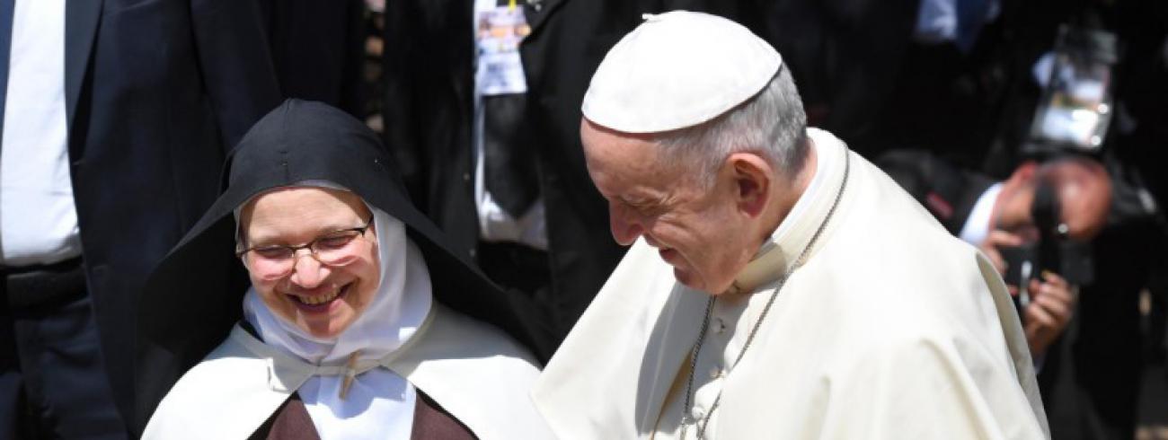 Paus Franciscus ontmoette vandaag de contemplatieve religieuzen © Vatican Media