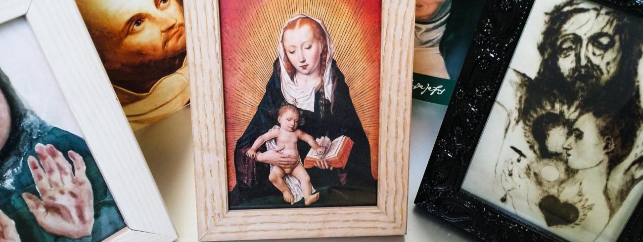 Maria met kind en een dagelijks geheugensteuntje [beeldmeditatie]