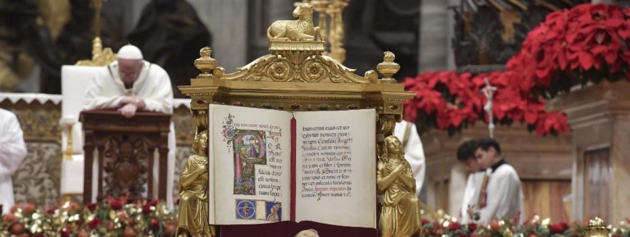 De middernachtmis met Paus Franciscus © Vatican Media