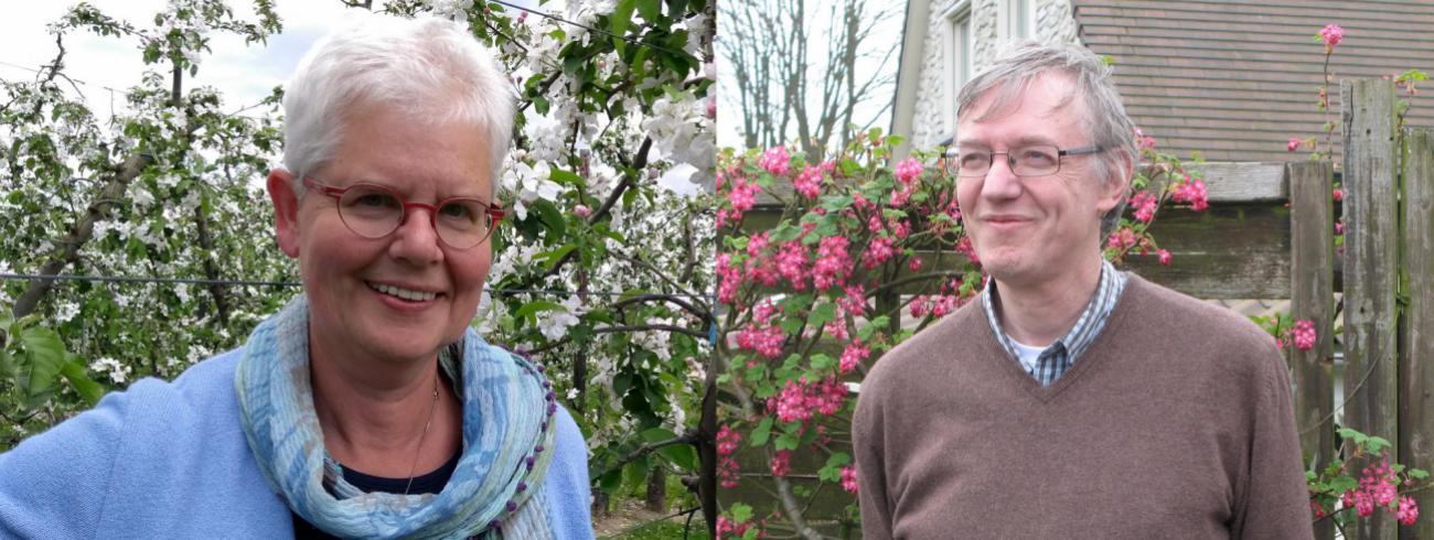 Zuster Mieke Kerckhof en Marc Steen