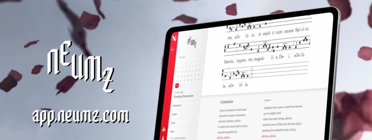 De muziekapp Neumz, voor gregoriaanse muziek © Neumz