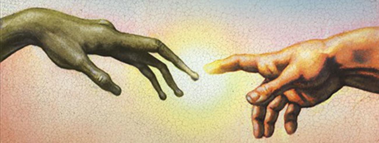De legendarische metafoor van God en mens van MIchelangelo © Vatican Observatory