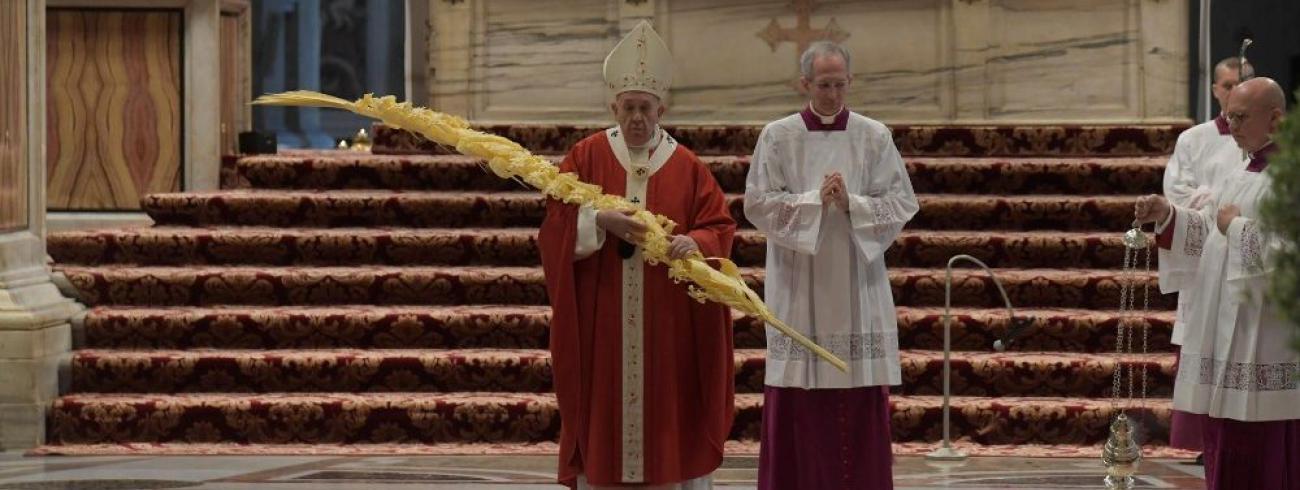 Paus Franciscus op Palmzondag © Vatican Media