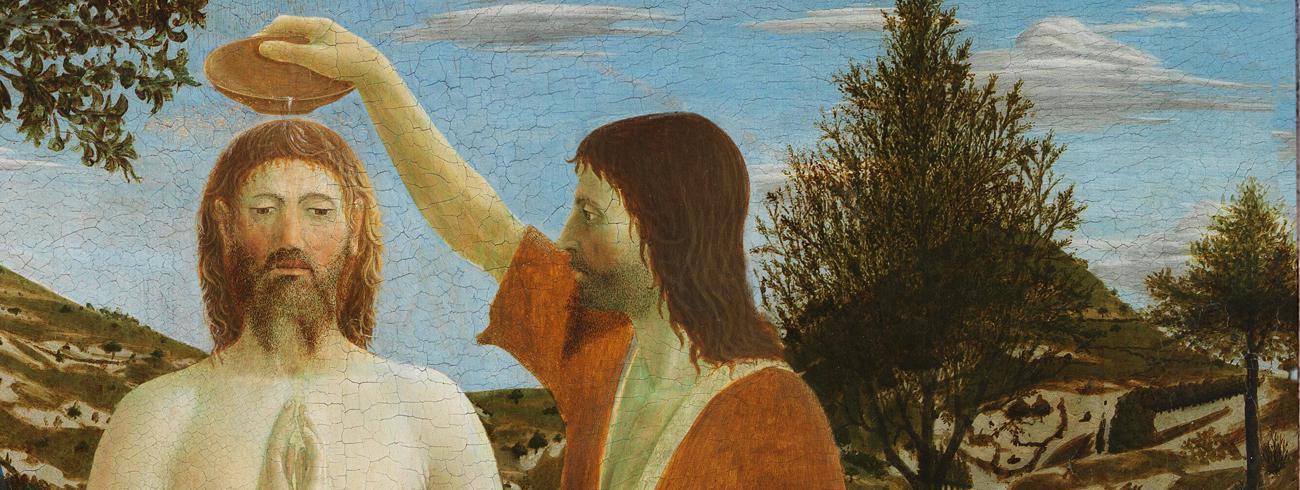 De doop van Christus, Piero della Francesca, ca. 1450 © Wikimedia Commens