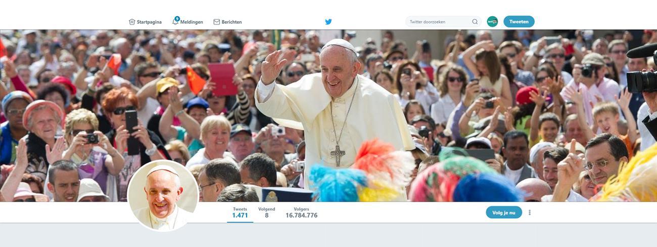 Paus Franciscus op Twitter @Pontifex © Twitter / vaticannews.va