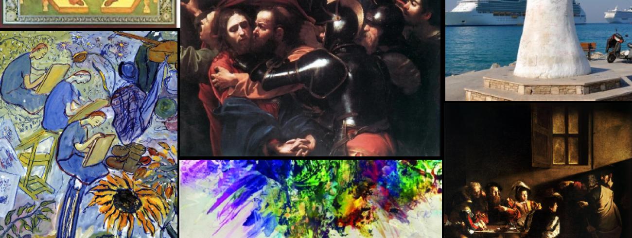 Voor een van de activiteiten zochten we naar de meest inspirerende religieuze kunstwerken op het internet.