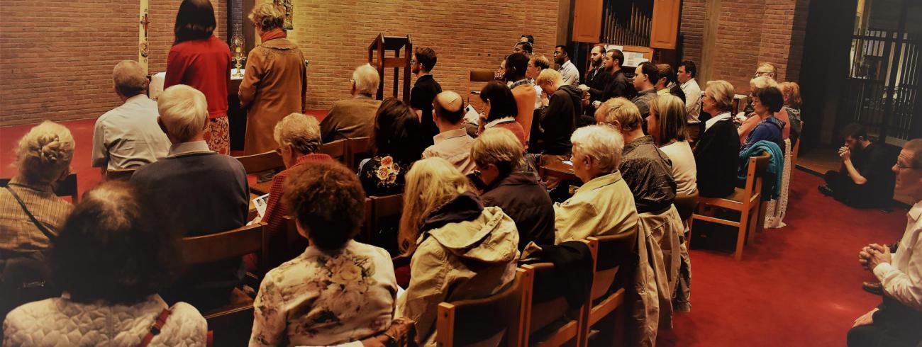 Aanbidding in kapel tijdens roepingenwake  © Johannes 23 seminarie