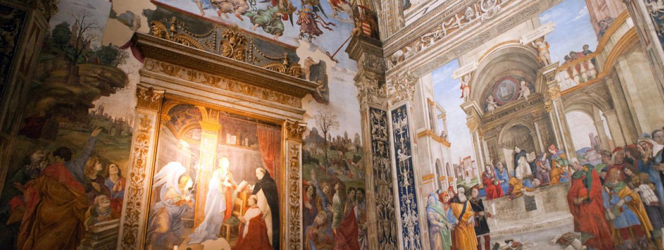 Santa Maria Sopra Minerva, Carafakapel, toegewijd aan Thomas van Aquino. © Flickr / Richard Mortel