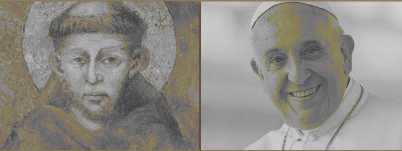 Sint-Franciscus en paus Franciscus: één pleidooi voor universele broederlijkheid. © Kerknet