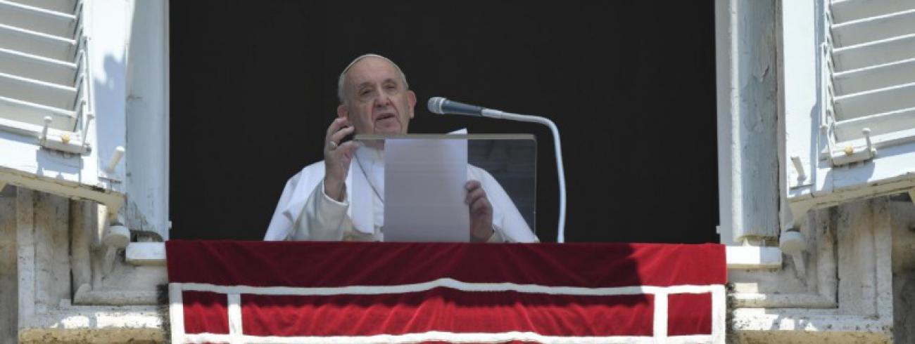 Paus Franciscus tijdens het Angelus © Vatican Media