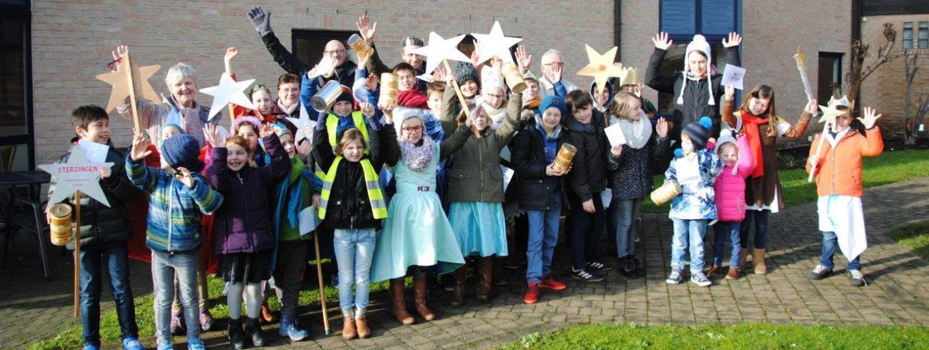Sterzangers van de lokale parochie en VEKBA school uit Aartrijke © Missio