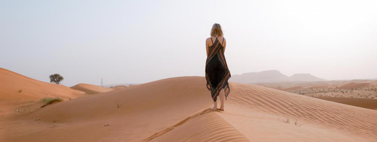 Soms lijkt het leven op een tocht door de woestijn. © © Toa Heftiba on Unsplash