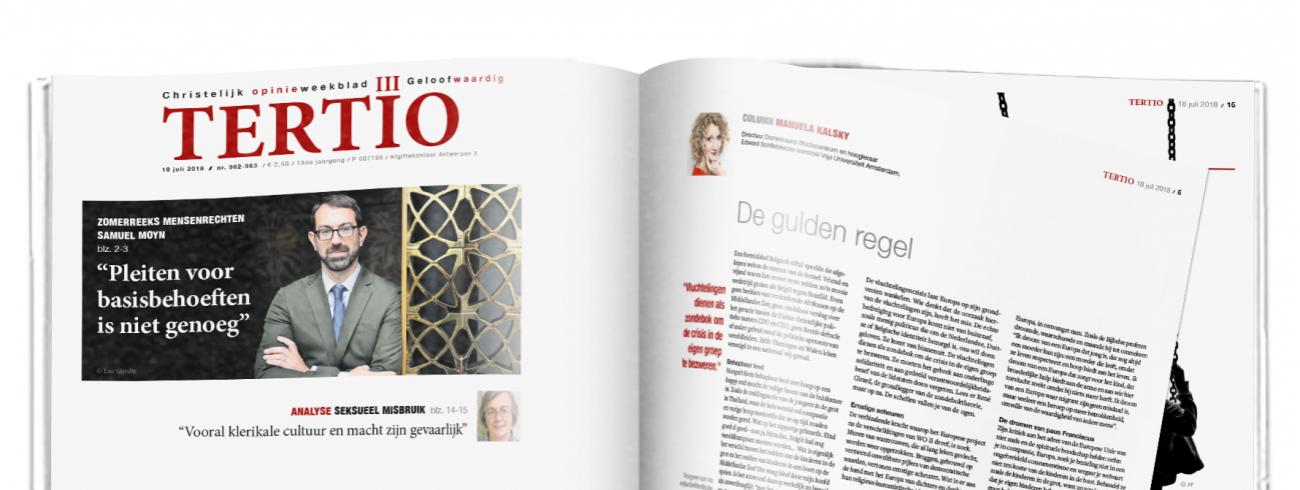 Cover Tertio 962-963 van 18 juli 2018. © Tertio