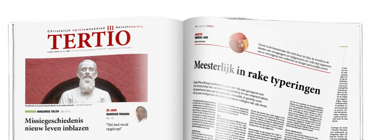 Cover Tertio nr. 999 van 3 april 2019. © Tertio