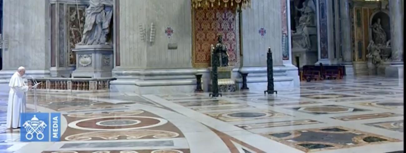 Paus Franciscus: De verkondiging van de Kerk weerklinkt vandaag in de hele wereld: 'Jezus Christus is verrezen! - Hij is waarlijk verrezen!' © VaticanMedia