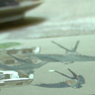 Videostill 'De blauwe zwaluw' © Koen Van Loocke