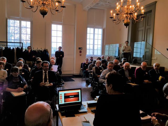 Het IPB-Forum blies voor zijn decemberforum verzamelen in Abdij van Park in Leuven © GL