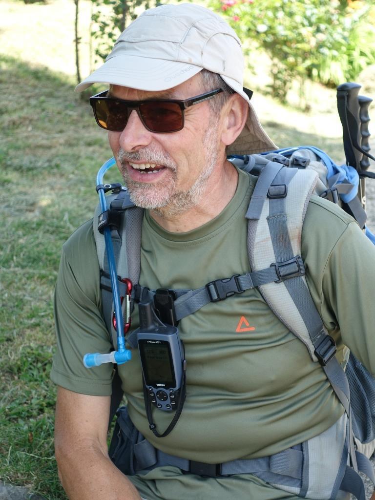 Benny Bilsen, een ervaren pelgrim en één van de initiatiefnemers van de pelgrimsestafette