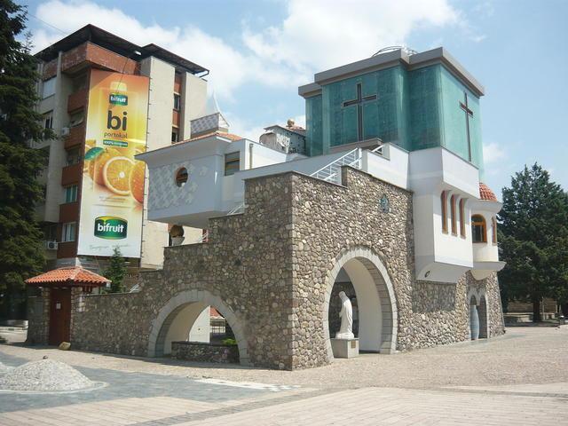 Het Mother Teresa Memorial House in Skopje. Foto CC Wikimedia