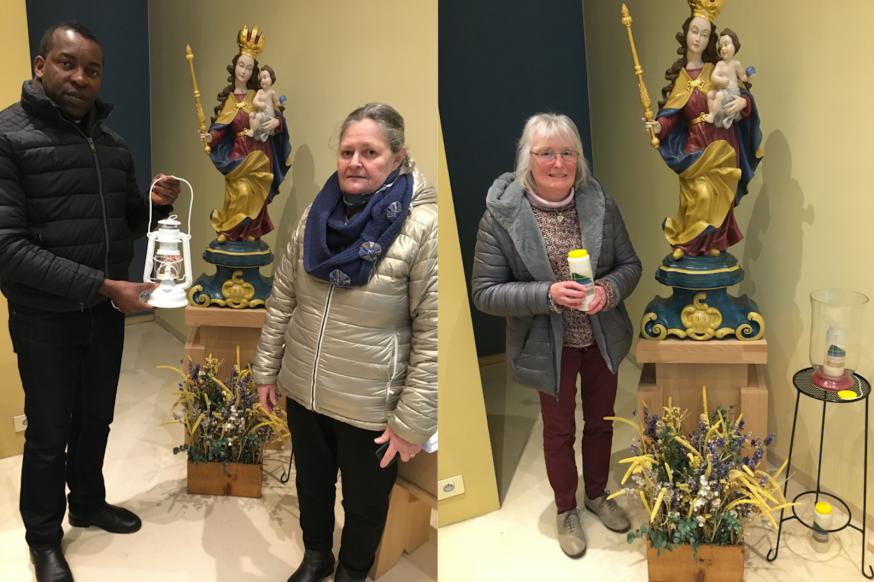 overdracht van het Licht van Betlehem aan vertegenwoordigers van pastorale eenheden in vicariaat Antwerpen  in het bisschopshuis © bisdom Antwerpen