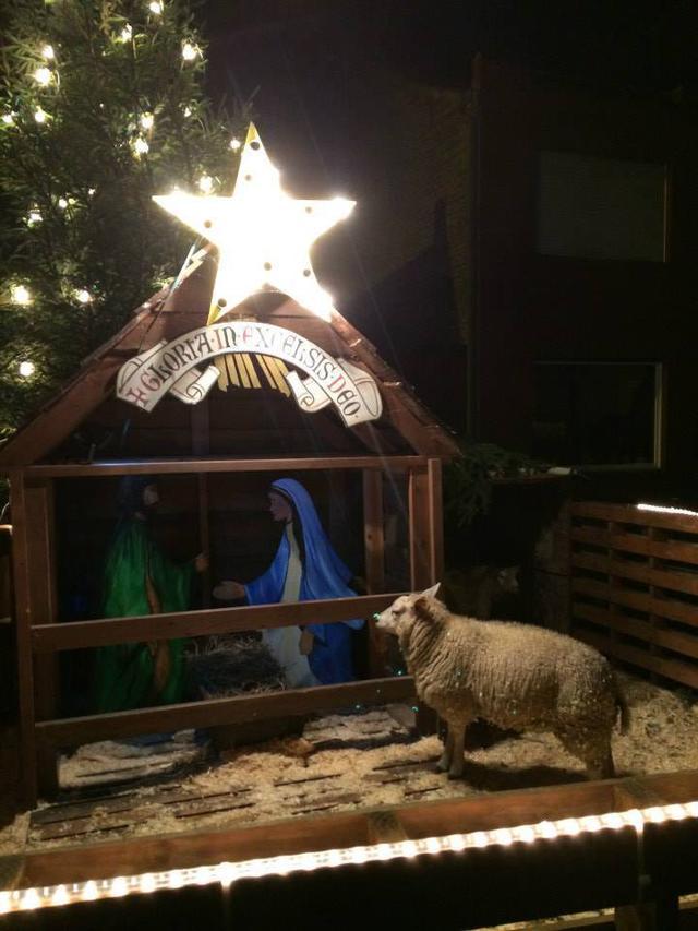 Kerststal in Keiem