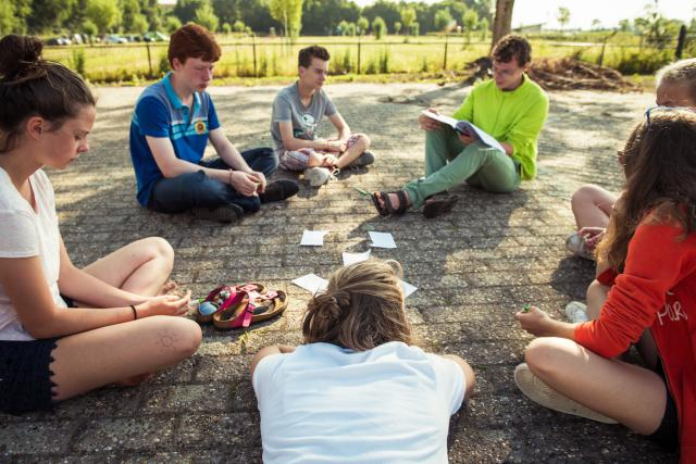 IJD Brugge op kamp in Cadzand. © Tim Coppens