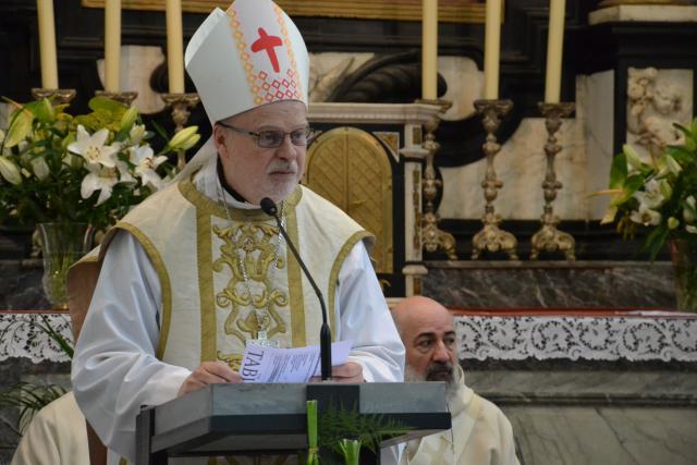 Kardinaal Anders Arborelius, bisschop van Stockholm en karmeliet, ging voor in de openingsviering © Jeroen Moens