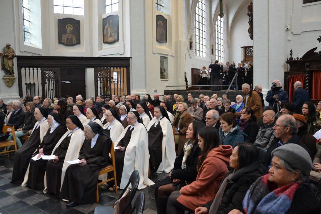 Het jubeljaar 550 jaar karmelietessen in Vilvoorde werd plechtig geopend op zondag 11 februari 2018 © Jeroen Moens